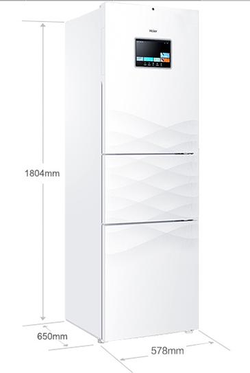 海尔冰箱三开门大容量 智能联网精彩不断