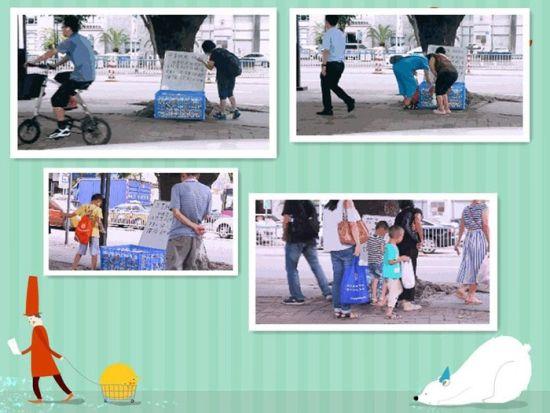 共享纸巾:中山街头喜现公益 免费纸巾按需领取