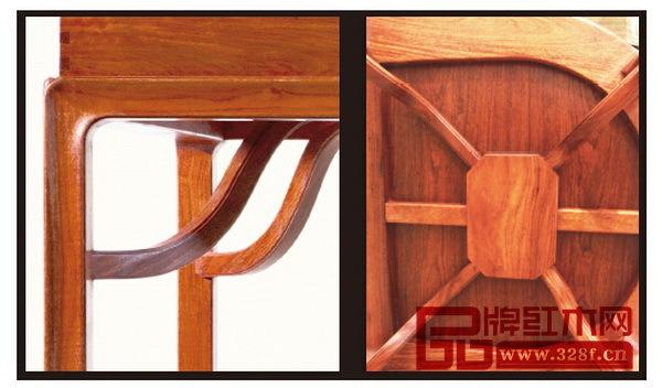 --> 新明式做了定义后,就有了一个明确的标准,企业就可以按照这个标准来研发和生产这种风格的家具。 传承明式家具,吸收明式家具的优秀特点,但造型、式样、品质又加以创新,充满新的时代精神,形成了独特风格。这是新明式红木家具的最大特征。 2016年3月,国寿红木提出了新明式概念,并率先推出了新明式红木家具品牌世外桃源;2016年8月东莞名家具展上,国寿红木再次展出世外桃源品牌系列新明式红木家具。 在世外桃源中,有五个传统明式家具元素符号被重新以不同的形式被大量使用,呈现出新的明式韵味。  粽角榫也