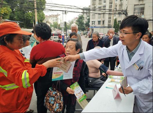 长淮街道开展世界精神卫生日宣传活动
